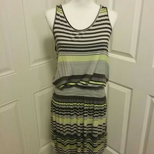 Everlast Dresses - CLOSING SALE EVERLAST  STRIPED RIBBED  TANK DRESS